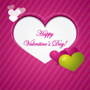 Pink valentine background or brochure composition with hearts and area for text clip art vector