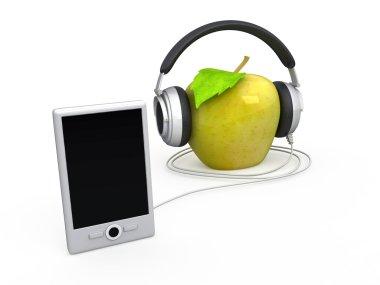 Apple in earphone
