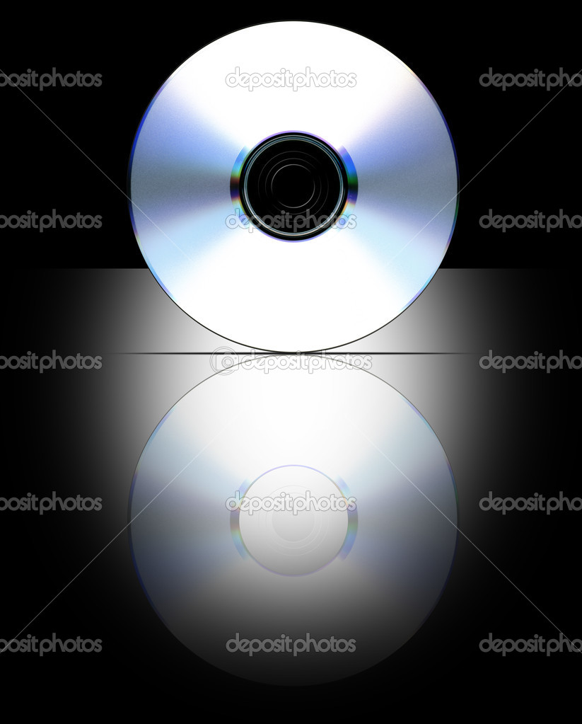Blank CD layout for presentation (Label Path Included) — Stock Photo ...