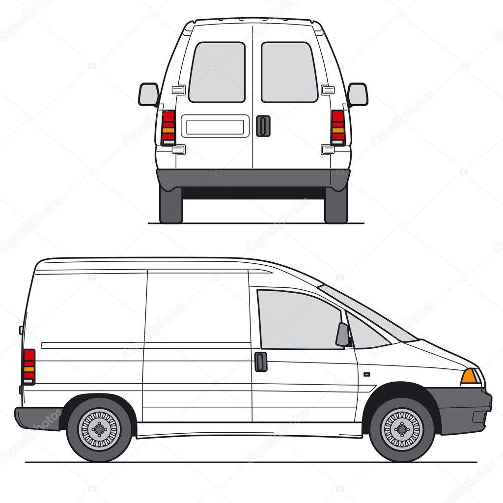 Mini van vector vettoriale stock 10271056