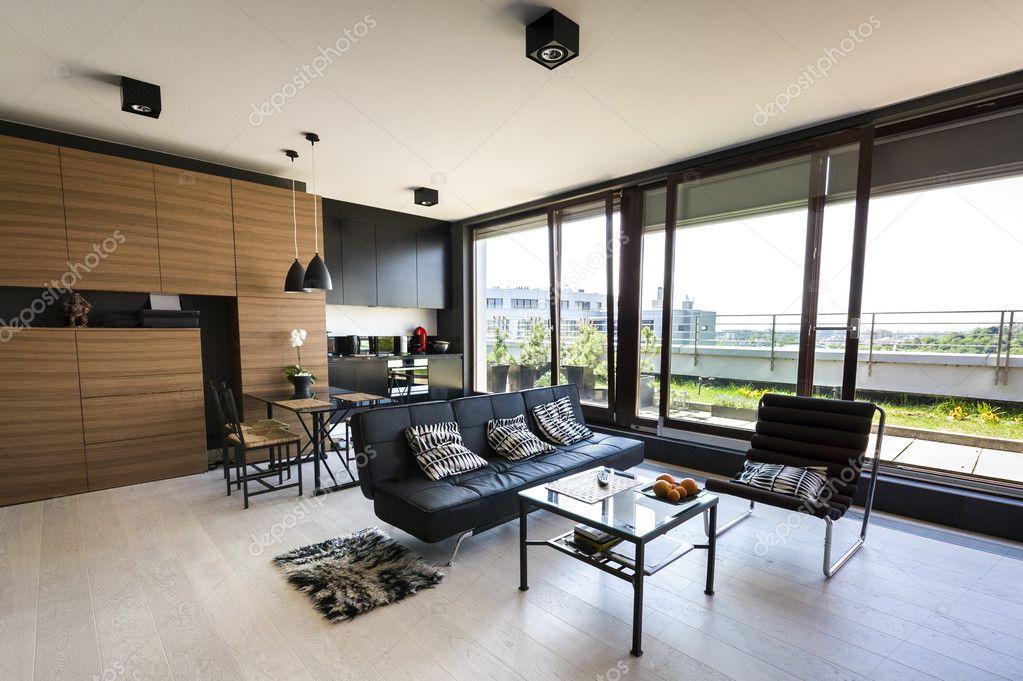 Moderne interieur appartement stockfoto jacek kadaj 10522869 - Interieur decoratie modern appartement ...