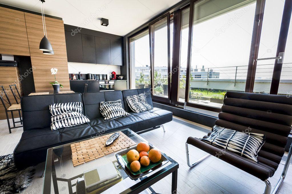 modern appartement interieur stockfoto jacek kadaj 10522877. Black Bedroom Furniture Sets. Home Design Ideas