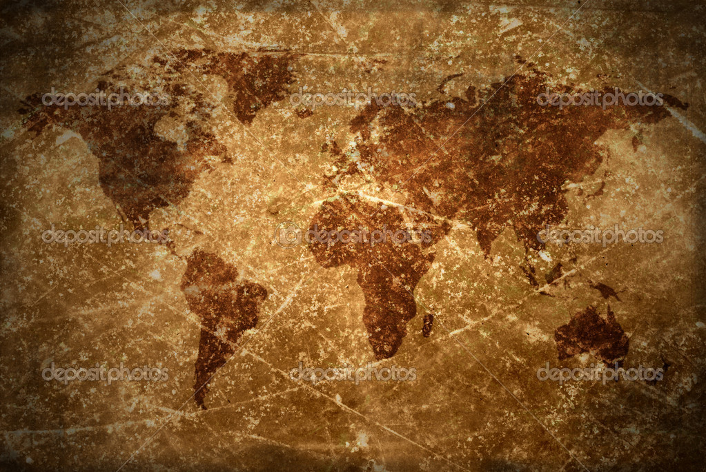 Aged vintage world map texture and background stock photo aged vintage world map texture and background photo by svtrotof gumiabroncs Image collections