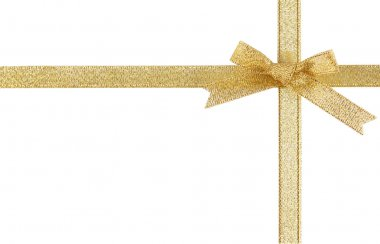 Holiday gold ribbons