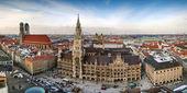 Panoramablick über München Stadt