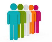 obrázek barevné tým