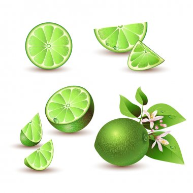 Fresh lime with flowers