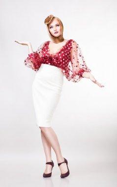 Glamour pin up actress