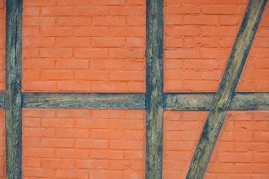 Brick and wood wall