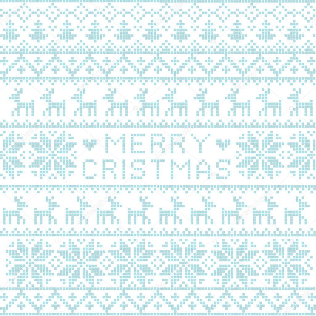 patrón nórdico de Navidad — Vector de stock © Azazelka #8063336