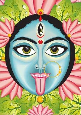 Kali - Indian Goddess face.