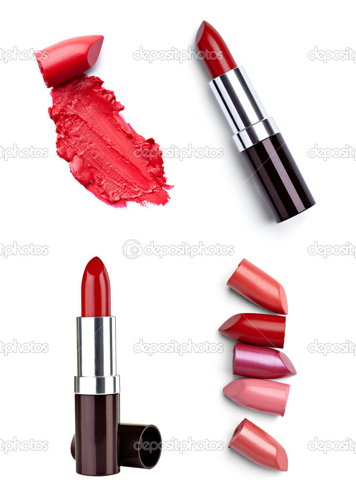 Lipstick make up beauty smudged