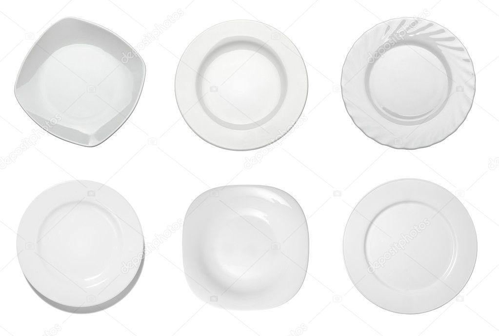 Empty white plate kitchen restaurant food