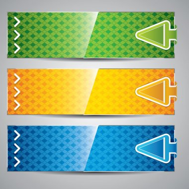 Three universal banner