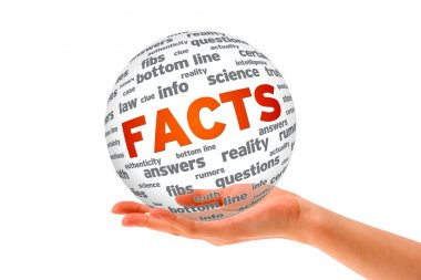 Hand holding a Facts 3D Sphere