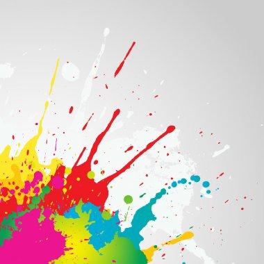 Grunge paint splat background