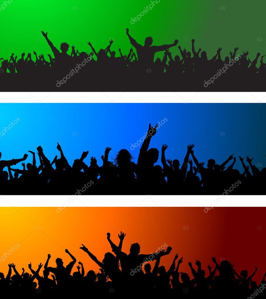 Three Crowd scenes
