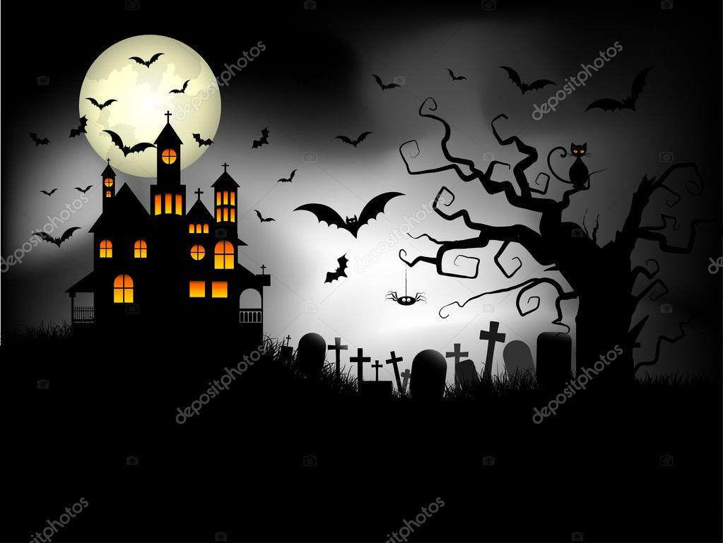 Spooky Halloween Background Stock Photo Kjpargeter