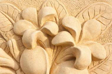 Stone Plumeria craft art design for spa