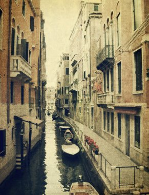 Canal with gondola. Venice