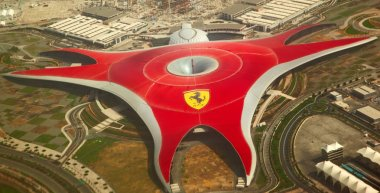 Ferrari World Park is the largest indoor amusement park in the w