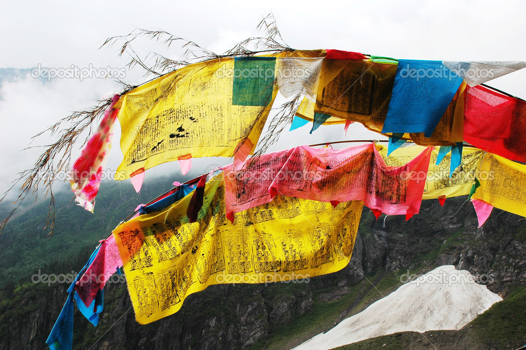 Tibetan prayer flags — Stock Photo © bbbbar #9793701