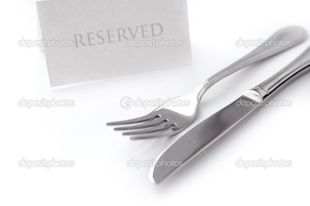 Generic reserved sign with fork and knife.