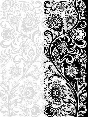 Decorative floral background. Seamless pattern