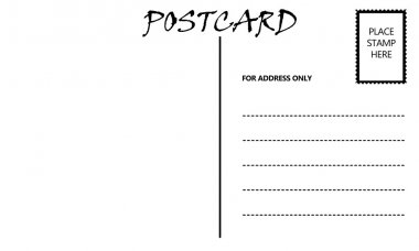 Empty Blank Postcard Template