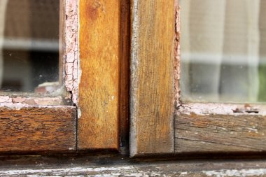 Home Repair Maintenance Wooden Window Frame