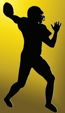 Golden Back Sport Silhouette - American Football