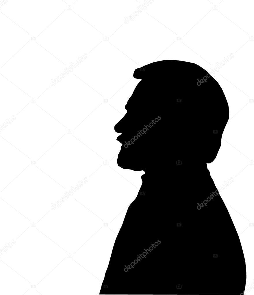 Man face Silhouette