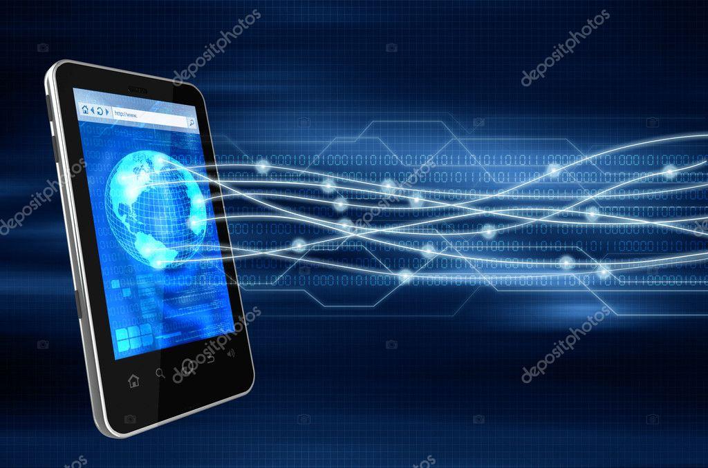 Smartphone communication concept