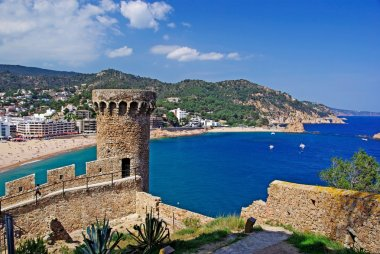 Cityscape of Tossa de Mar, Costa Brava, Spain.
