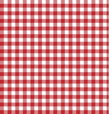 Red vector checkered picnic tablecloth. Good as background or ba
