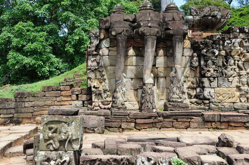 Terraza De Los Elefantes Angkor Thom Camboya Foto De