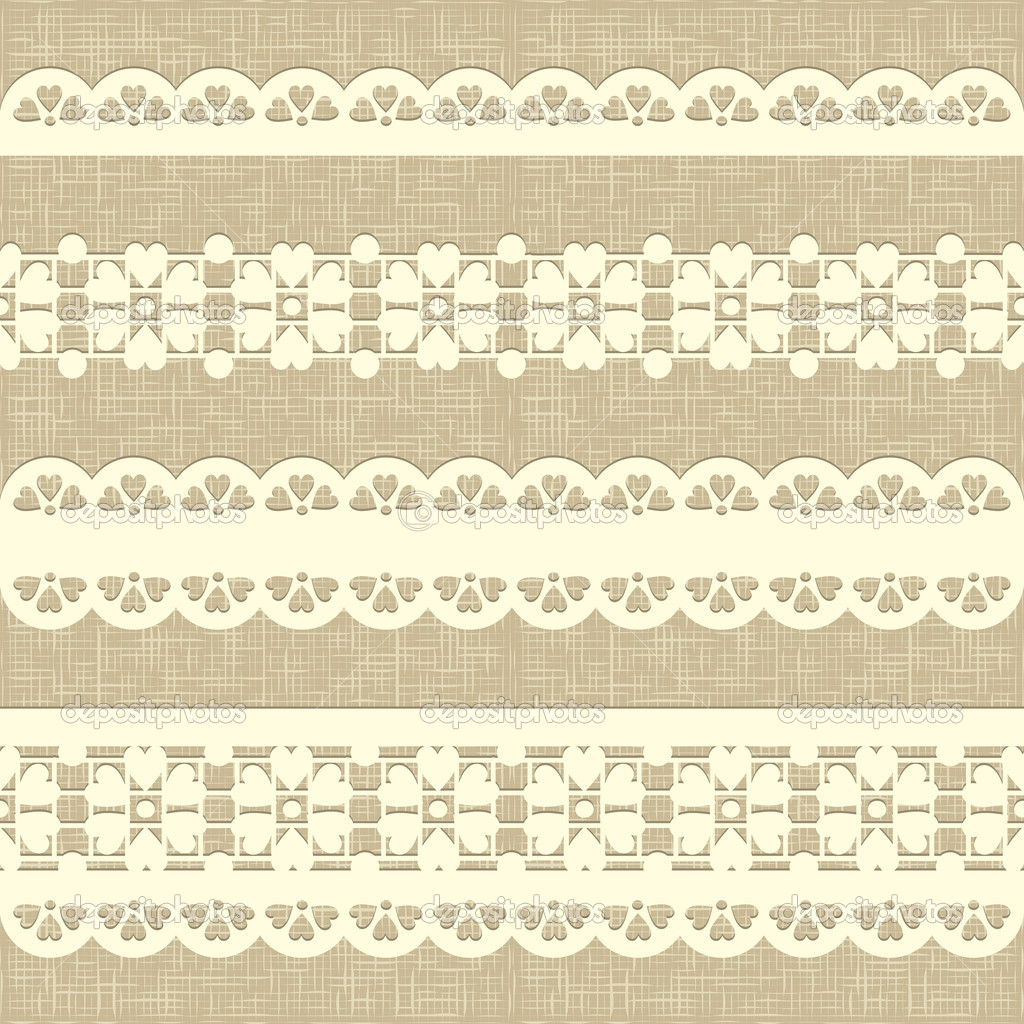 Seamless Rustic Burlap Pattern Vintage Straight Lace On Linen Canvas Background Eps 10 Vector By Antuanetto