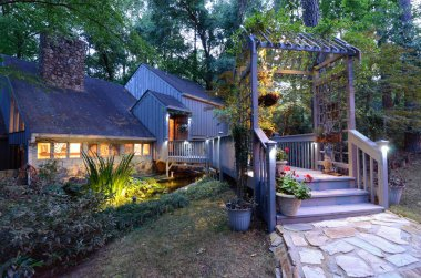 Home Entrance in the Woods