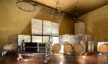 Wine Pressing Room stock vector