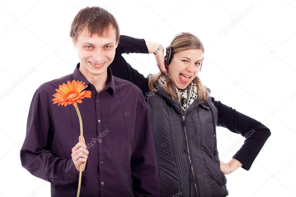 Weird Couple Stock Photos 3