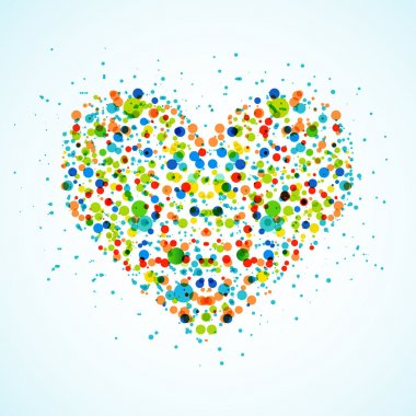 Heart made with color spots. Vector. eps 10 clip art vector