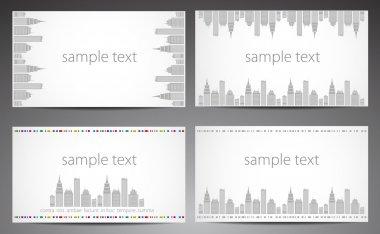 Set of cards. City theme. Vector. eps 10 clip art vector