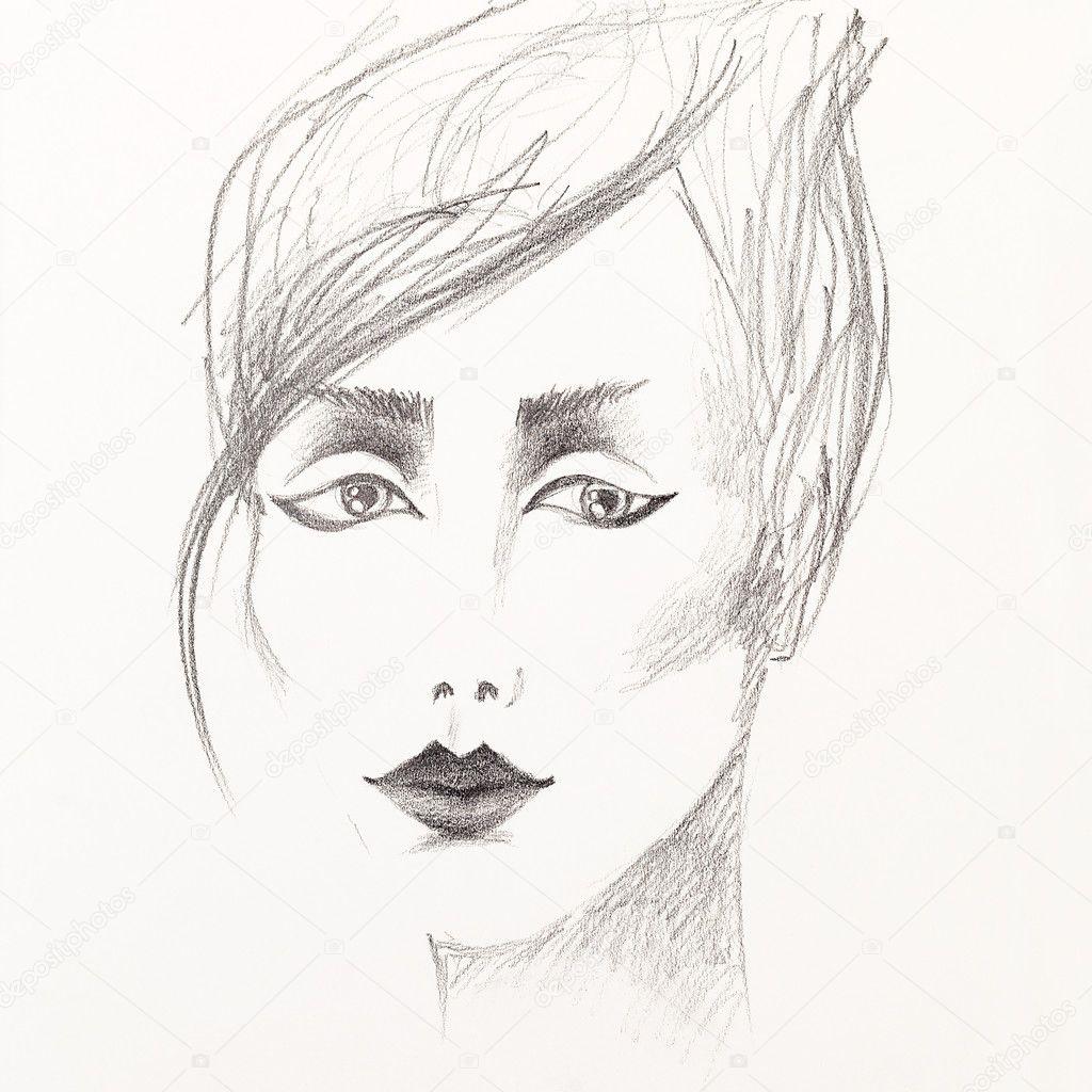 Imagens De Desenho De Mulher Feito A Mão Pencil Sketch