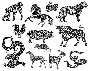Stylizaed Chinese Zodiac