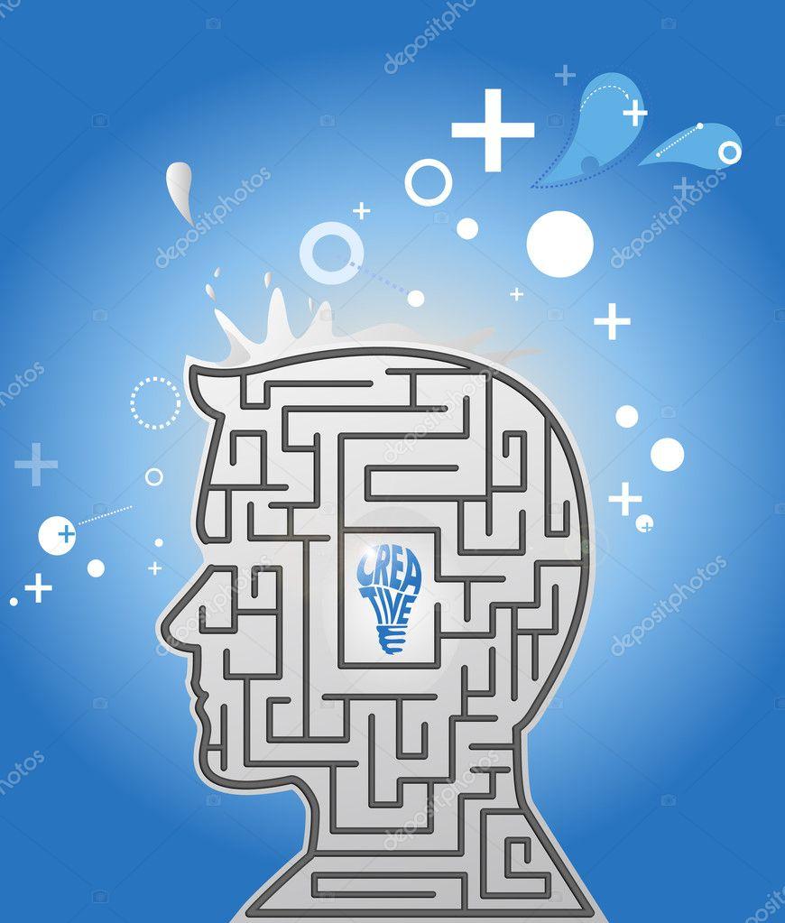 Thinking Head. Concept image.
