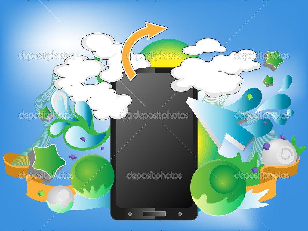 Bright design with smart-phone