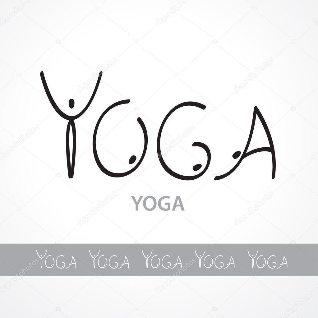 Vorlage Etiketten yoga — Stockvektor © antoshkaforever #9534851