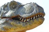 Dinosaurus tyrannosaurus rex na bílém pozadí