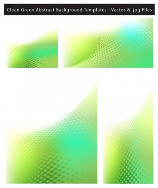 Clean Green Abstract Background Template Set
