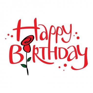 Happy Birthday holiday event congratulation postcard rose flower